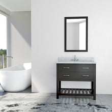 Load image into Gallery viewer, TAB Elmira Vanities 37 in. Bathroom Vanity in Espresso with Marble Vanity Top in White