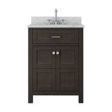 Load image into Gallery viewer, TAB Cortland Vanities 25 in. Bathroom Vanity in Espresso with Marble Vanity Top in White