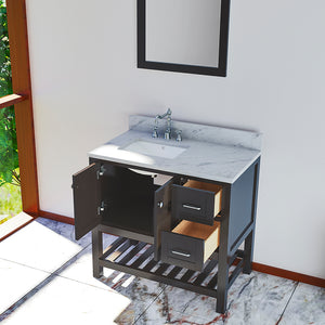 Doylestown 37 in. Bathroom Vanity in Espresso