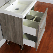Load image into Gallery viewer, The Modern 23.5 in. W x 18.875 in. D Bath Vanity in Gray with Acrylic Vanity Top in White with White Basin