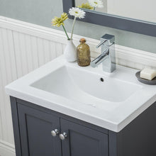 Load image into Gallery viewer, Richland 24 in. W x 18.25 in. D x 34.75 in. H Vanity in Gray with Porcelain Vanity Top in White with White Basin