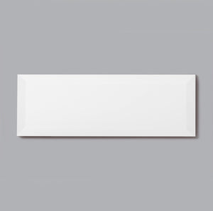 4 x 12 White Flat Polished or High Gloss Wall Tile