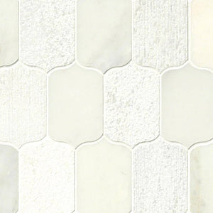CALYPSO BLANCO LOTUS MISC. 0.38 INCH Backsplash Decorative Wall Tile