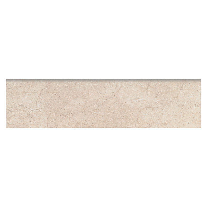 CLASSIQUE BEIGE CREMA 4X16 BULL NOSE GLOSSY 0.25 INCH Backsplash Decorative Wall Tile