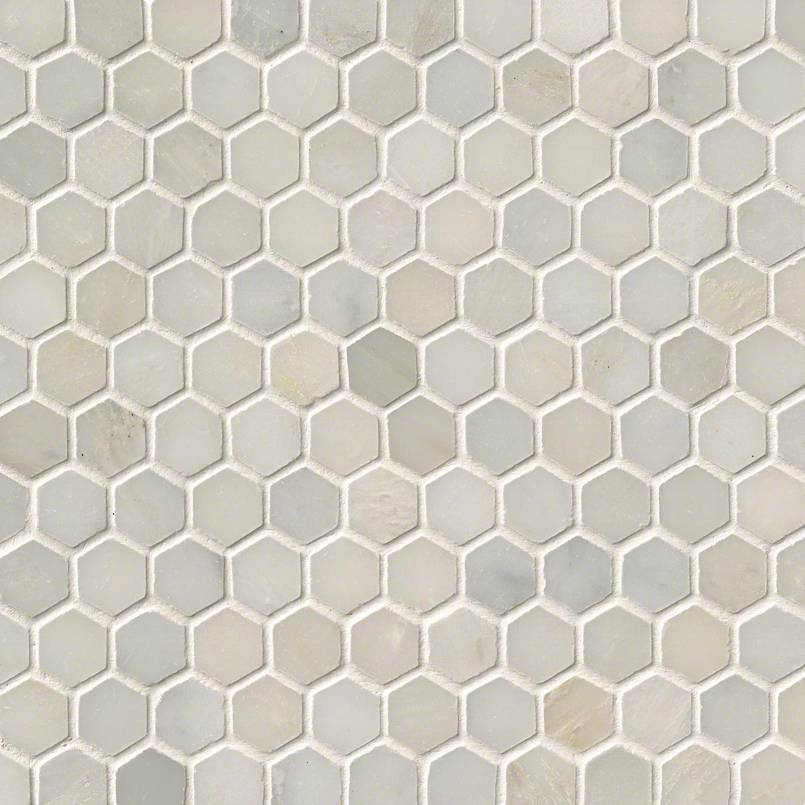 GREECIAN WHITE 1 HEXAGON MOSAIC
