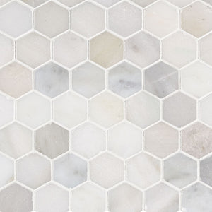"GREECIAN WHITE 2"" HEXAGON"