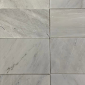 6 x 12 Rectangle Polished or High Gloss Gray Marble - Tile Stone Depot