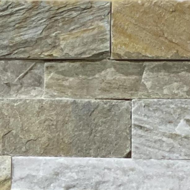 6 x 24 Rectangle Matte Golden Honey Stacked Natural Stone - Tile Stone Depot
