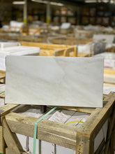 Load image into Gallery viewer, 12 x 24 Rectangle Polished or High Gloss Akmonya White Marble - Tile Stone Depot