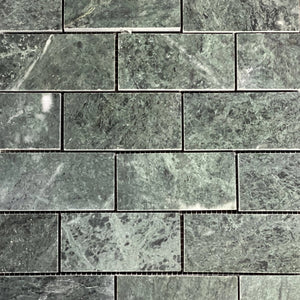 12 x 12 Square Polished or High Gloss Green Marble - Tile Stone Depot