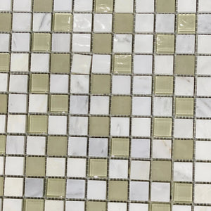 12 x 12 Square Matte White Brown Marble - Tile Stone Depot