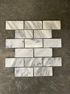12 x 12 Polished or High Gloss Gray Mosaic 2 x 4 Subway Marble - Tile Stone Depot