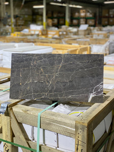 12 x 24 Rectangle Polished or High Gloss Ares Gray Marble - Tile Stone Depot