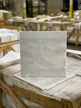 Load image into Gallery viewer, 18 x 18 Square Polished or High Gloss Calacutta Gray Marble - Tile Stone Depot