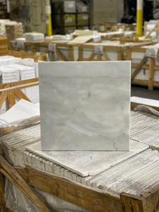 18 x 18 Square Polished or High Gloss Calacutta Gray Marble - Tile Stone Depot
