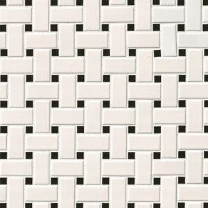 WHITE AND BLACK BASKET WEAVE