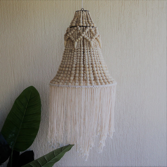 Chandelier with Tassels ( Natural)