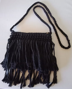 Macrame Handbag Black