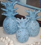 Blue Pineapples (Set of 3)