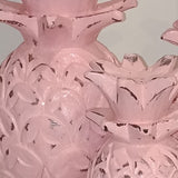Carved Pink Pineapples (Set of 3)