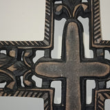 Hand Carved Black Wall Cross