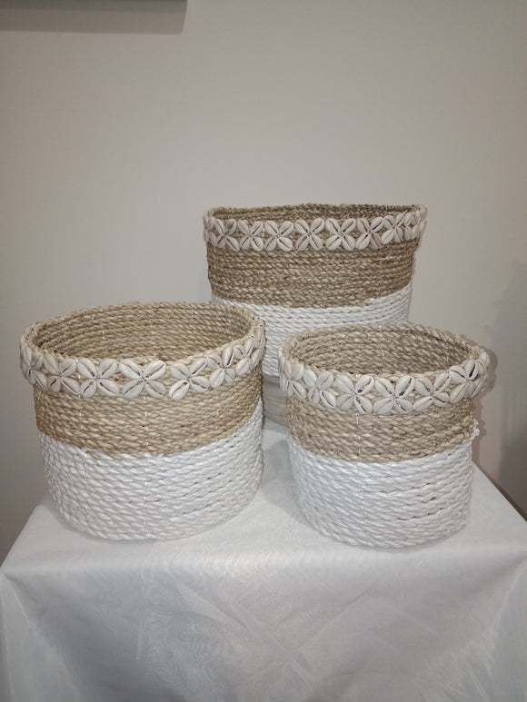 Baskets (Hand woven) Set of 3