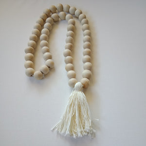 Bead and Tassel Decor (White and Natural )