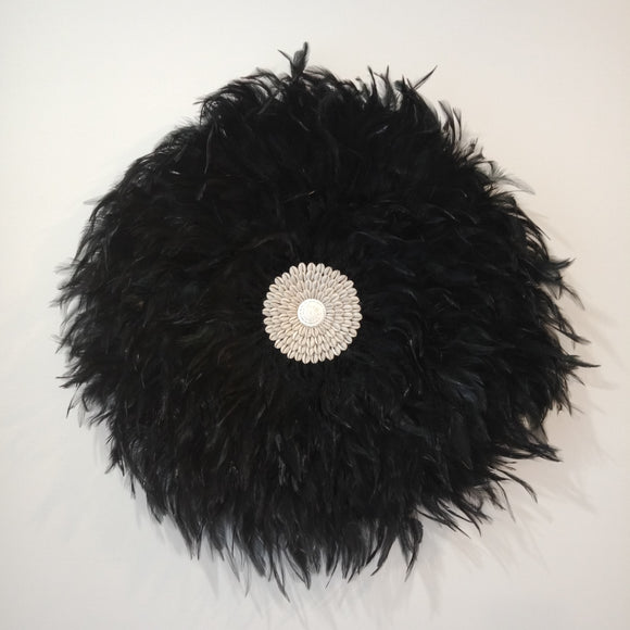 Juju Hat (Black with Shells)