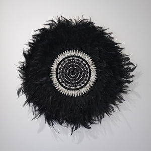 Black Juju Hat with Shells