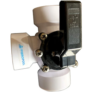 "3 Way Diverter Pool Valve 1 1/2"" Female Threaded"