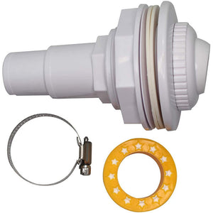 Above Ground Pool Wall Fitting Return Jet Assembly with clamp and Thread Tape