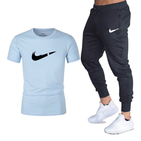 Men's Sets T Shirts+pants Two Pieces