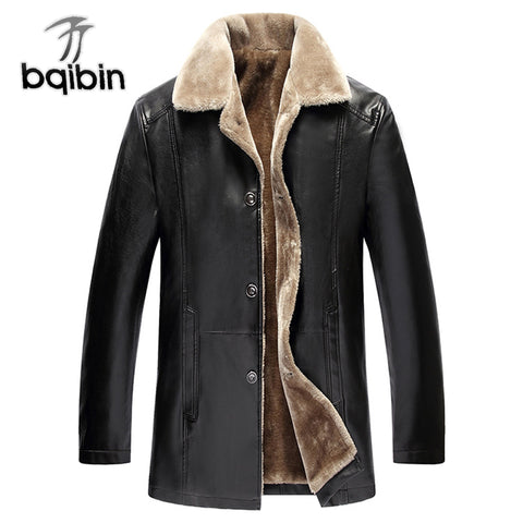 Winter Fur Leather Jacket Mens