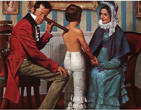 Invention of the first stethoscope