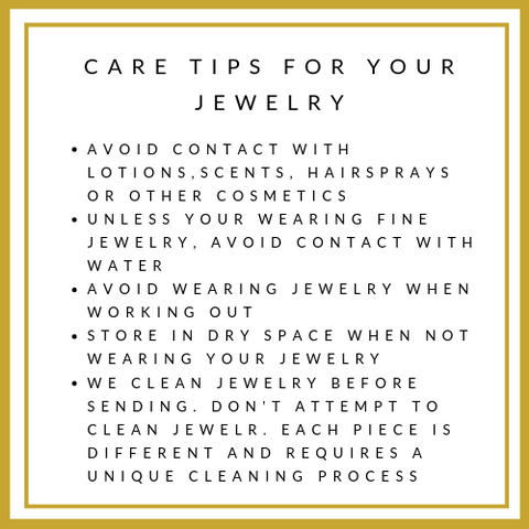 Care Tips For Your Jewelry