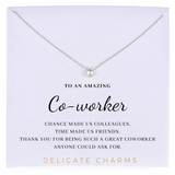 Delicate Charms coworker gift Coworker Gifts for Coworker Christmas  pearl meaningful necklace card  gift Coworker Gift christmas