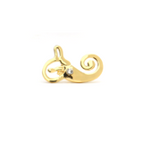 inner ear gift pin Vestibular System Gold Lapel Pin