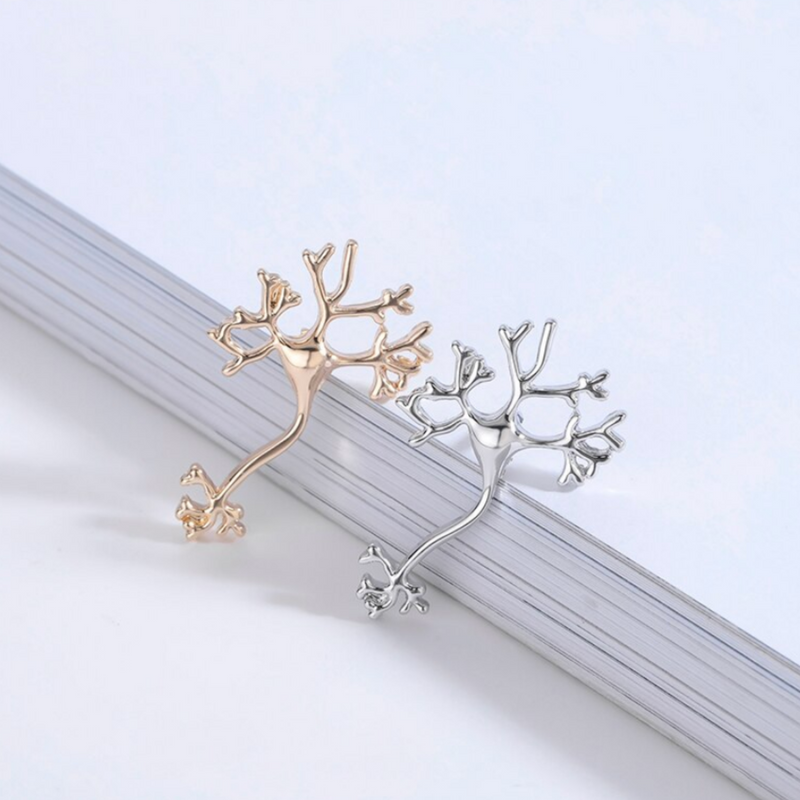 Neuron Nerve Cell Silver and Golden Nerve Cell Neuron
