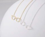 Delicate charms glass frame necklace silver gold optician gift optometry tech gifts