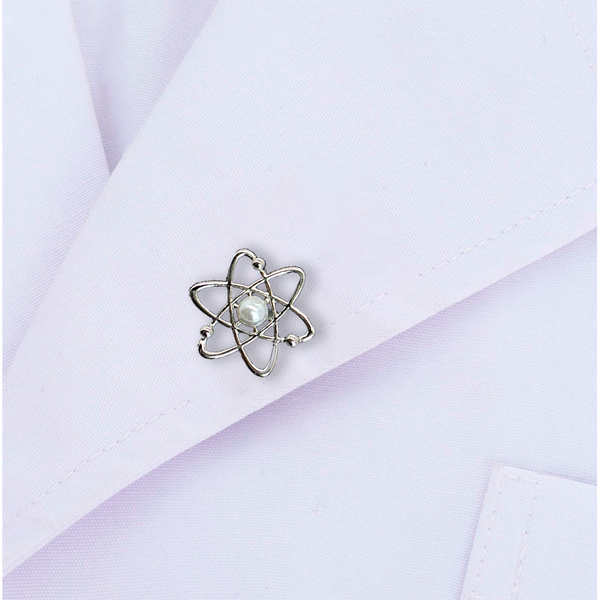 Atomic Science Brooch Pin