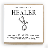 Delicate Charms Healer Stethescope Pin Brooch