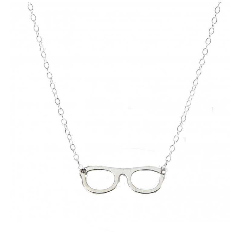 Delicate Charms Optician, Ophthalmologist Glasses and Eye Chart Necklace