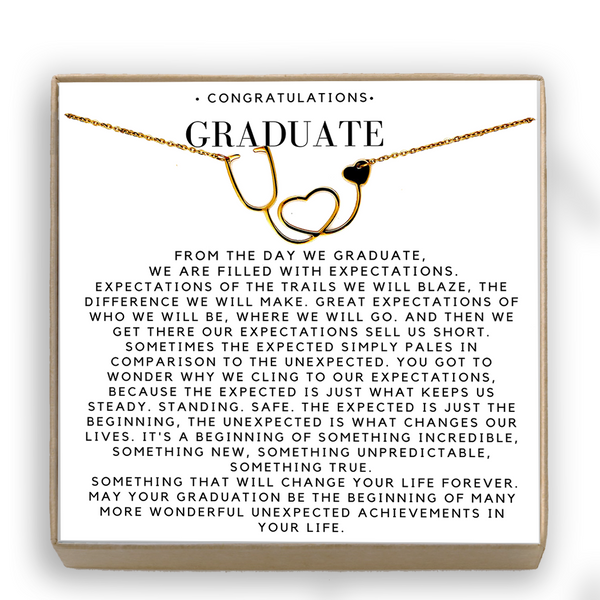 Graduation Gift Necklace Stethescope