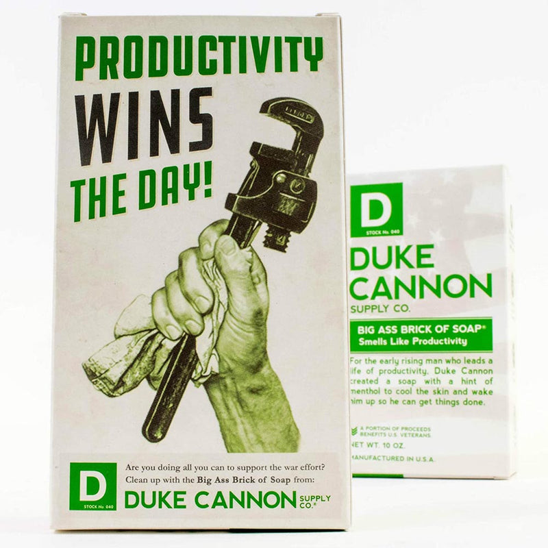 Duke Cannon Big Ass Brick of Soap Productivity 10 Oz Limited Edition 03WHITE1