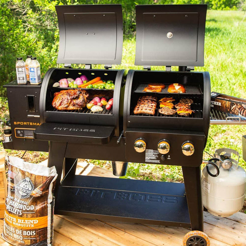 Pit Boss Gas and Pellet Combo Grill Sportsman Series 1230 sq inch PB1230SP 10533