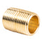 "1/2"" NPT X Male Close Pipe Nipple Threaded Brass Fitting Pipe Connector Single"