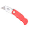 Folding Lock Back Utility Knife Box Cutter Clip 6 Blades Quick Change Red