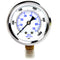 "Liquid Filled 0-1,000 PSI Lower Side Mount Air Pressure Gauge With 2.5"" Face"