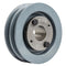 "4"" 2 Piece Cast iron Dual Groove Pulley A Belt (4L) Style with 1-1/8"" Bore H Bushing 2AK41H"