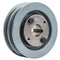"4"" 2 Piece Cast iron Dual Groove Pulley A Belt (4L) Style With 1"" Bore H Bushing 2AK41H"